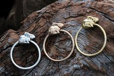 Silver Riverine Rabbit slider ring (Sizing adjustments are charged for separately on all sale items.