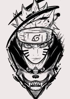 naruto Posters, Wall Art, Prints on metal | Displate Naruto E Kurama, Naruto Eyes, Naruto Art, Naruto Shippuden Anime, Anime Naruto, Naruto Sketch Drawing, Naruto Drawings, Anime Sketch, Naruto Tattoo