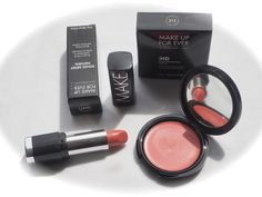 OUTDOOR LIGHT: MAKE UP FOR EVER ROUGE ARTIST NATURAL N37 AND MUFE HIGH DEFINITION HD BLUSH IN 215