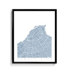 Kuwait City Map Art / Kuwait City Print Art / Kuwait Poster