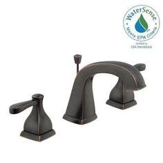 Glacier Bay Milner 8 in. Widespread 2-Handle Bathroom Faucet in…