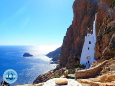 The Greek island Amorgos: Amorgos is the most eastern island of the Cyclades island group. It is located southeast of Naxos Island and northeast Holidays In September, Holiday News, Heraklion, Greece Holiday, Crete Greece, Going On Holiday, Beach Holiday, Santorini, Greek