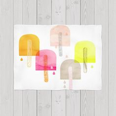 Drippng ice pops