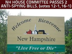 NH house committee passes TWO anti-surveillance bills this week. HB1533 (12-1) and HB1619 (16-1)