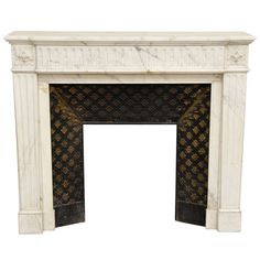 Antique Louis XVI Style Fireplace in Semi Statuary Carrara Marble   From a unique collection of antique and modern fireplaces and mantels at http://www.1stdibs.com/furniture/building-garden/fireplaces-mantels/