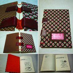 Caderninho de receitas | costura copta sobre tiras #papeliebrasil #papelandocomamor  #compredequemfaz #fuieuquefiz