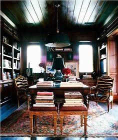 Glamorous warm/cozy office.