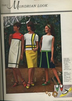 1960's Mondrian fashion dresses