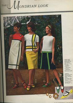 1960's Mondrian fashion dresses