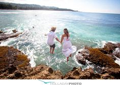 Check out this AWESOME wedding! Get married, jump off cliff, go surfing...! :  wedding Trash The Dress 20