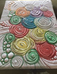 I've done this melted crayon project a few times with kids and even for just myself as an art quilt. If you are home with kids for the next few weeks, give this a try! You can choose to quilt… Spring Crafts For Kids, Art For Kids, Kid Art, Quilting Tutorials, Quilting Projects, Art Projects, Paper Plate Crafts, Paper Plates, Scrap Quilt Patterns