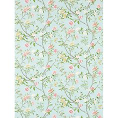 Buy Sky / Pink, Zoffany Nostell Priory Wallpaper from our Wallpaper range at John Lewis & Partners. Chinoiserie Wallpaper, Damask Wallpaper, Chinoiserie Chic, Geometric Wallpaper, Wallpaper Online, Wall Wallpaper, Small Space Interior Design, Interior Design Living Room, John Lewis Wallpaper