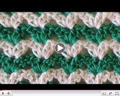 Stitch Repeat Shell #1 Free Crochet Pattern - Right Handed