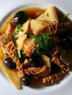 Maltagliati alla Trippa, tripes, olives, italian food