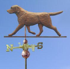 Hand Made GOLDEN RETRIEVER DOG FLAT POST Mount Weathervane ~NEW~