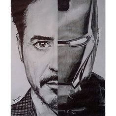 Ironman - Painting n Drawing Trends Avengers Drawings, Avengers Art, Marvel Art, Cartoon Drawings, Drawing Sketches, Sketch Art, Iron Man Drawing Easy, Ironman Sketch, Realistic Sketch