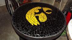 hawk mosaic table