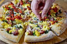 Smoked Sausage Breakfast Pizza by Full Fork Ahead