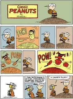 Charlie Brown pitching Peanuts Cartoon, Peanuts Snoopy, Peanuts Comics, Charles Shultz, Charles Brown, Snoopy Comics, Charlie Brown And Snoopy, Old Cartoons, Little Monsters