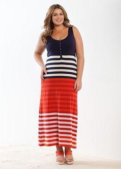 Fashion Plus Size - Large Size Womens Clothes, Tops & Dresses | Fashionable Plus Size Clothes - ELLIOT MAXI DRESS - Virtu