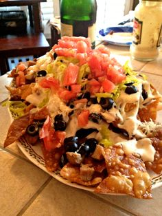iPhone only photos in a dark kitchen in the evening, I promise to make and photograph these nachos when I get back from Oregon next week! Have you heard of Italian Nachos? I've seen them ment…