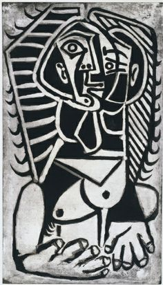 The Egyptian, 1953 Pablo Picasso (Spanish, 1881-1973) sugarlift aquatint