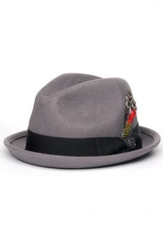 brixton - gain felt fedora (grey). It's like a German take on a fedora.