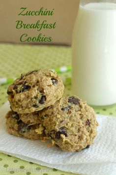 Zucchini Breakfast Cookies are super moist and just the right amount of sweet!  Little Dairy on the Prairie