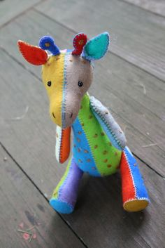 G is for Giraffe : A PDF sewing pattern.