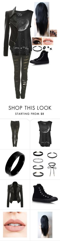 """""""""""Tomorrow's Money"""" - My Chemical Romance"""" by wonderland-13-swift ❤ liked on Polyvore featuring West Coast Jewelry, Converse and Jouer"""