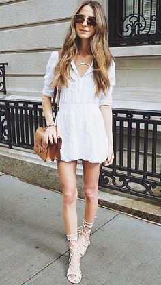 This white on white ensemble is made possible by a blogger favorite fashion brand.