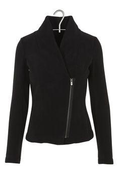 Gilet zippé en polaire Noir by IKKS Bright Spring, Edgy Style, Gilets, Blazer, Couture, Joyful, Jackets, Outfits, Inspiration
