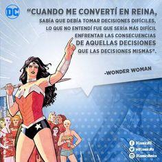 """""""Cuando me convertí en reina, sabía que debía tomar decisiones difíciles, lo que no entendí fue que sería más difícil enfrentar las consecuencias de aquellas decisiones que las decisiones mismas"""". -Wonder Woman"""