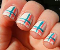 Easy stripes nail art