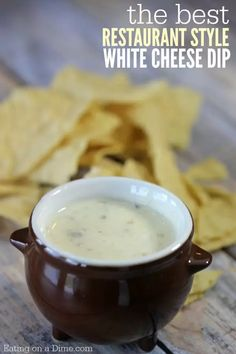 This is the Best Mexican White Cheese Dip recipe. An Authentic queso dip that tastes just like the Mexican Restaurant white sauce. Your entire family is going to love this queso blanco. Appetizer Dips, Appetizer Recipes, Cheese Appetizers, Recipes Dinner, Mexican Dishes, Mexican Food Recipes, Mexican Snacks, Mexican Meals, Mexican White Cheese Dip