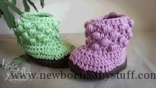Crochet Baby Booties crochet baby booties free pattern...