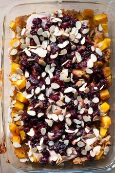 Cozy up to sweet, savory, tangy flavor with this Cranberry Chicken Casserole. Made with rice, chicken, and an incredible cranberry, orange juice, soy sauce, maple syrup combo, this dish is a winner for any night of the week.