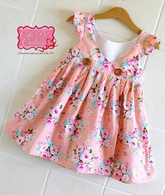 Girls Summer Bay Dress   by Brownie Goose