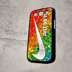 Nike Just Do It glitter sparkle Samsung Galaxy S3 Case   merchfire - Accessories on ArtFire