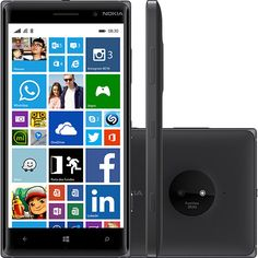 Smartphone Nokia Lumia 830 Desbloqueado Windows 8.1 Tela 5 ´ Memória Interna 16GB Wi - Fi Câmera 10MP GPS Preto ( 120853489 ) Tecnoshop.ofertou.com