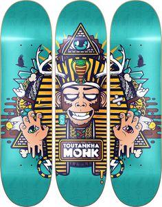 Toutankha' Monk by Mnk Crew , via Behance