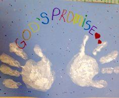 Noah's ark handprint craft  Rainbow handprint craft Bible Story Crafts, Bible School Crafts, Preschool Bible, Sunday School Crafts, Preschool Crafts, Bible Stories, K Crafts, Crafts For Kids, Toddler Bible