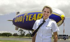 In honor of Women's Equality Day - some short videos of women working in male dominated professions. Taylor Laverty, Pilot of Good Year Blimp, Carson, CA