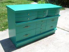Best Vintage Bassett 50 S Blonde 4 Drawer Chest Dresser Chicago 400 x 300