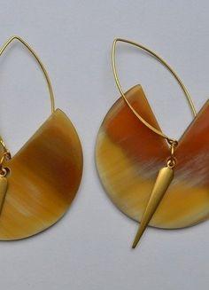 Boucles d'oreilles de créateur ! Ethnique Chic & Tribal & Vintage !  Pièce unique ! Neuve !