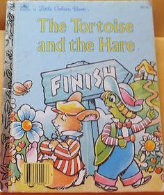 The Tortoise and the Hare / Little Golden by BooksPaperAndMore Read It And Weep, Little Free Libraries, Free Library, Library Ideas, Childhood Stories, Little Golden Books, Vintage Children's Books, Children's Literature, Kids Reading