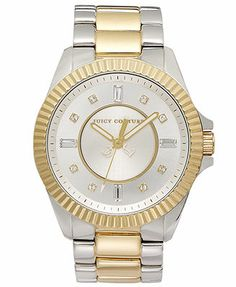 Juicy Couture Watch, Women's Stella Tone Tone Stainless Steel Bracelet 40mm 1900928