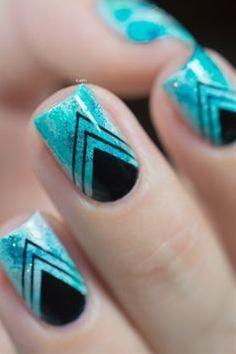 Trendy summer nail art
