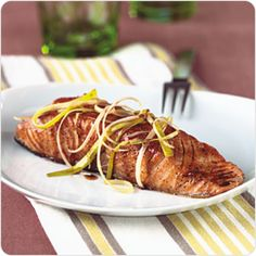 Pan-Seared Salmon with Honey-Balsamic Sauce | Better For You