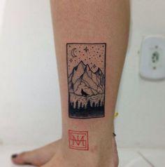 #melvistattoo #pontilhismotattoo #pontilhismo #montanhas #lua #lobo #floresta #tattoo #tatuaje #tatouage #tatuagem #dotwork #blackwork #arte #art